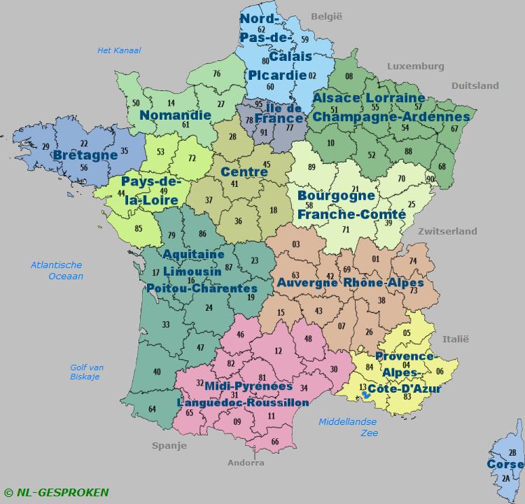 Regio's in Frankrijk