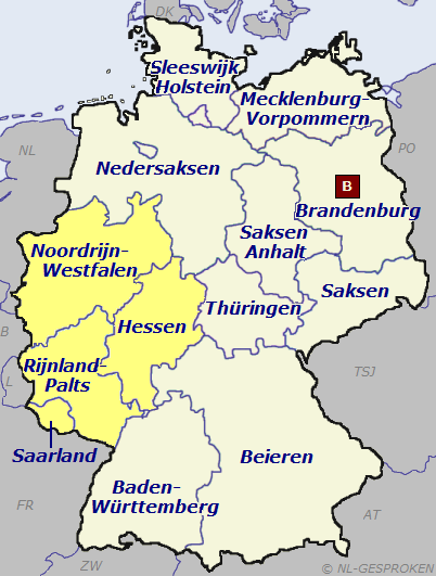 Kaart Duitsland-West