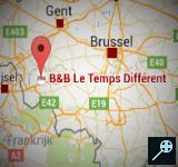 BE - Kaart B&B Le Temps Différent