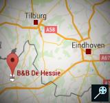 BE - Kaart B&B de Hessie - Turnhout