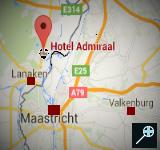 BE - Kaart Hotel Admiraal - Lanaken