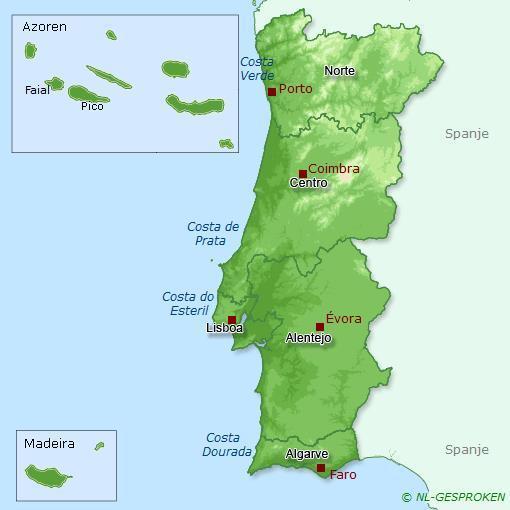 Kaart Portugal