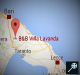 IT - 3 Kaart B&B Villa Lavanda - Sicilie (160 x 150)