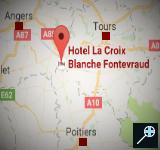 FR - Kaart Hostellerie La Croix Blanche - Pays de la Loire