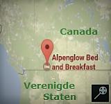 Kaart B&B Alpenglow - Canada