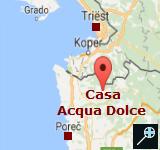 KROA - Kaart Casa Acqua Dolce ligt - Oprtalj - Istrie