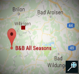 Kaart B&B All Seasons - Winterberg