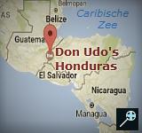 Kaart Hotel Don Udo's - Honduras
