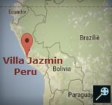 Kaart Hotel Villa Jazmin - Peru