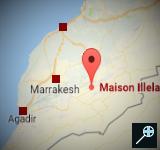 Kaart - Maison Illela - Marokko