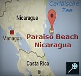 Kaart Paraiso Beach Hotel - Nicaragua