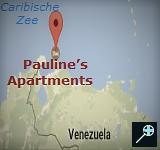 Kaart Pauline's Apartments - Aruba