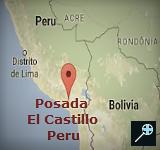 Kaart Posada El Castillo - Peru