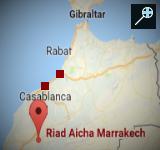 Kaart Riad Aicha - Marrakech