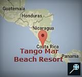 Kaart Tango Mar Beach Resort - Costa Rica