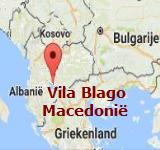 Kaart Vila Blago - Macedonie
