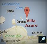 Kaart Villa Azure Bonaire
