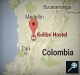 Kolibri Hostel - Colombia (kaart)