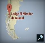Kaart Lodge El Mirador De Guadal - Chili