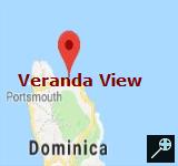 Veranda View Guest House - Dominica (kaart)