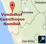 Kaart B&B Vondelhof - Namibië